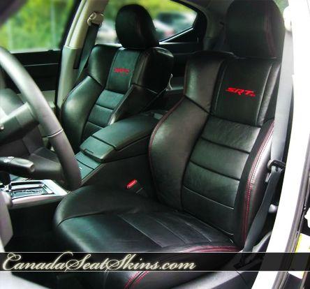 Dodge Charger Srt8 Leather Package With Custom Logos Canadaseatskins Com Dodge Charger Srt8 Charger Srt8 Dodge Charger
