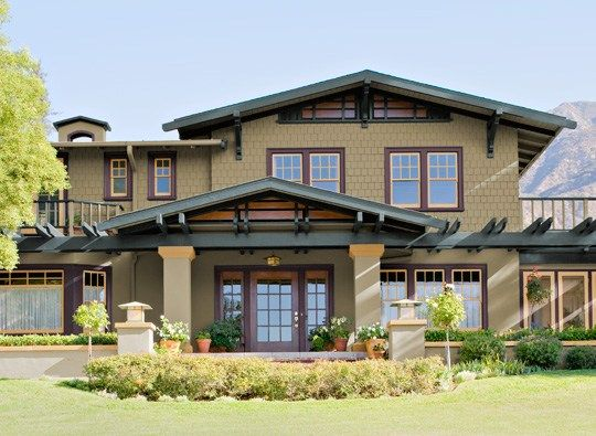 Exterior Paint Color Scheme Of This Craftsman Home Design From Benjamin Moore