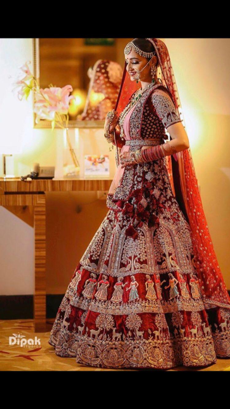 Beautiful Red Lehenga Indian Bridal Outfits Indian Bridal Dress Bridal Lehenga Collection