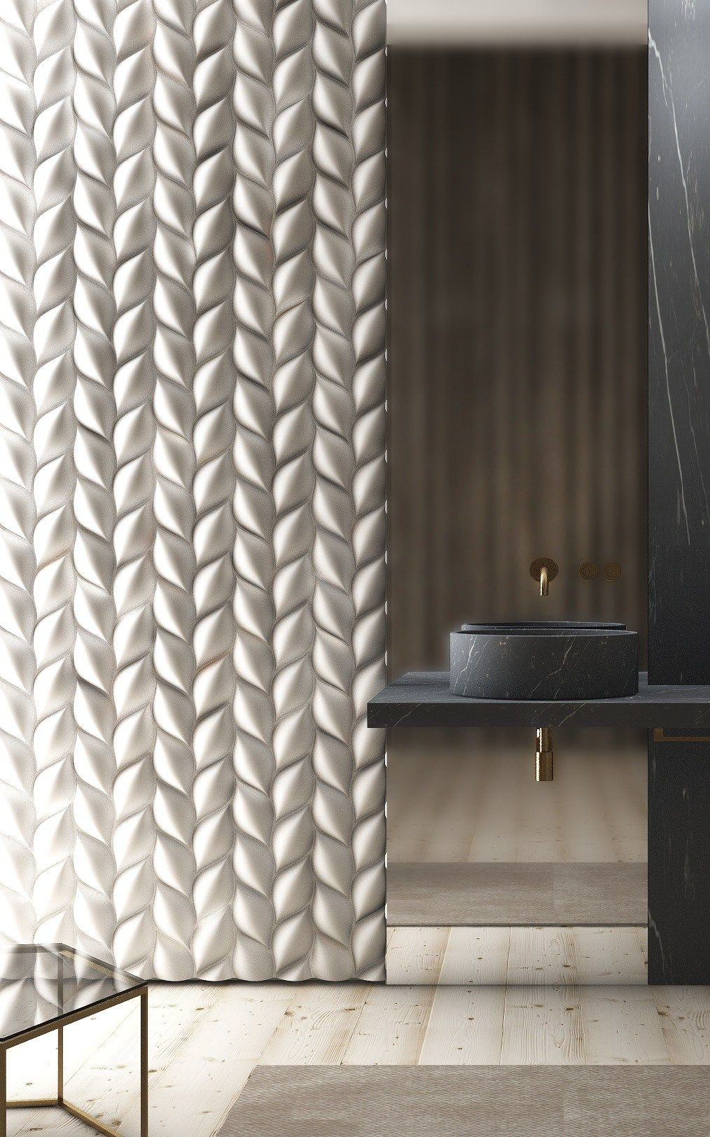 3d Wall Panel Treccia 3dsurface Bathroom Design