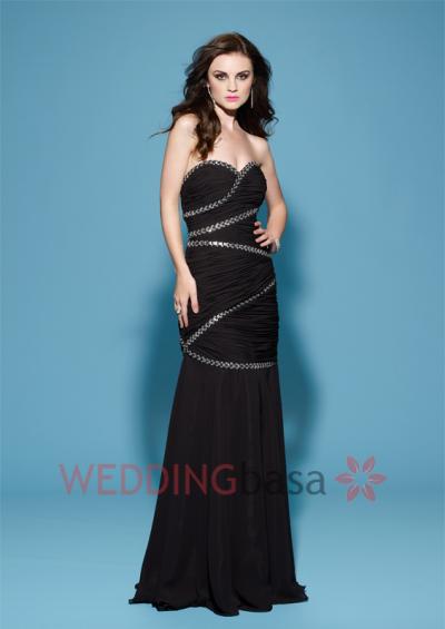 Floor Length Sweetheart Column/Sheath Flowers Prom Dress
