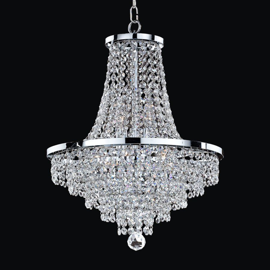 Glow lighting vista 16 in 8 light silver pearl crystal hardwired shop glow lighting vista silver pearl crystal chandelier at lowes arubaitofo Image collections