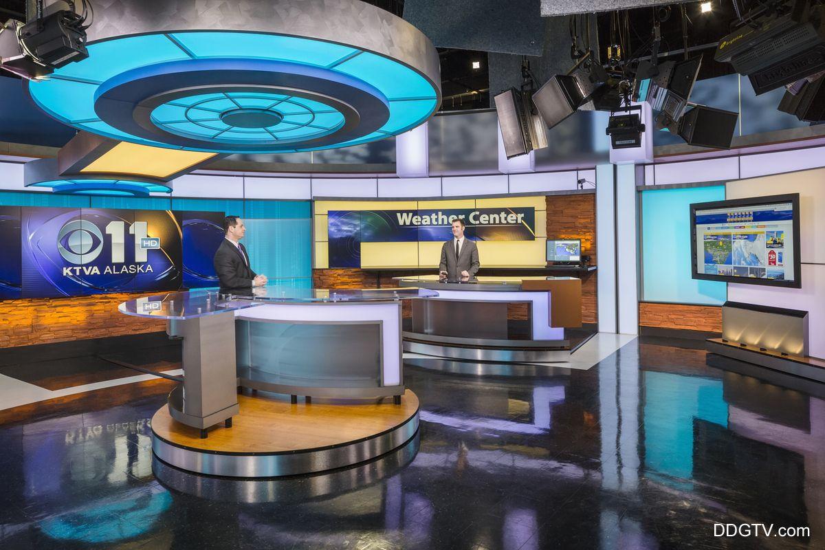 KTVA News Studio Main Anchor Desk Area