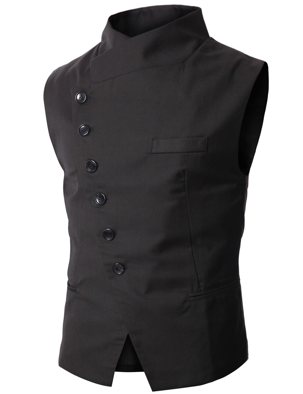 Stylish men's vest--a bit of a mix between oriental, elegant, and  post-modern if you ask me (love it)