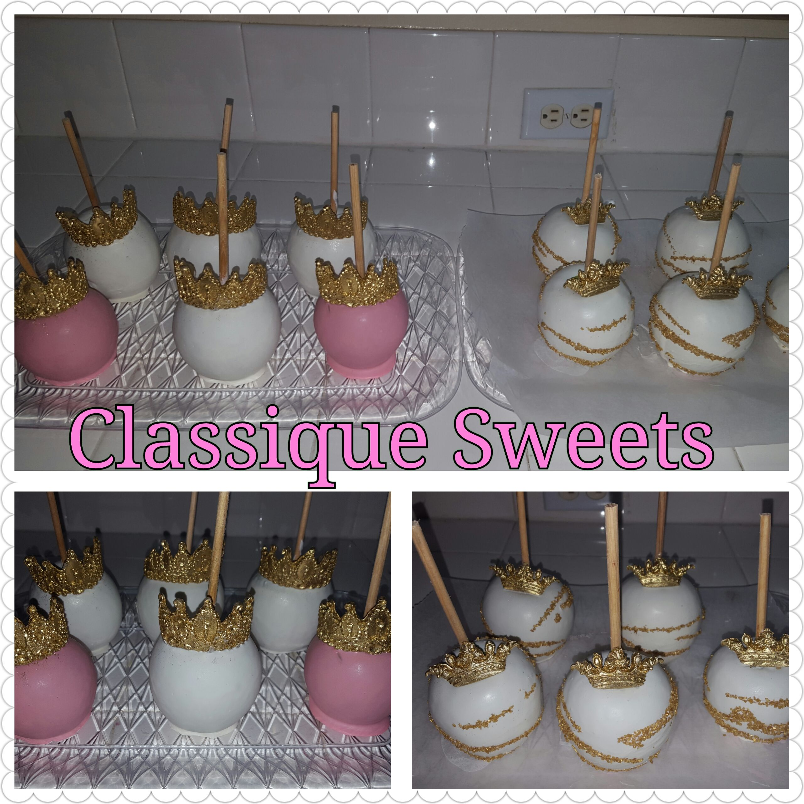 Princesses inspired candy apples. Caramel Chocolate covered Apples ...