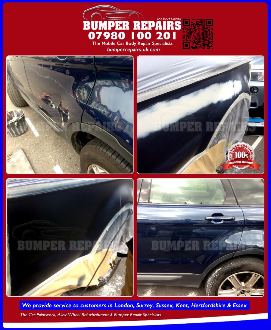 We repair Range Rover Evogue paint scratch, bodywork dent and alloy wheel scratch damage in London, Surrey, Hertfordshire, Essex & Kent