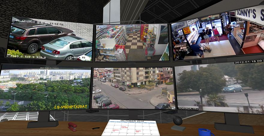 STEREOSCOPY :: Eye Create Worlds presents VCP Dynamic Display Demo | Virtual Command Presence is a virtual reality application that allows you to display high definition video from a variety of sources on simulated monitors that exist in a virtual 3D space...