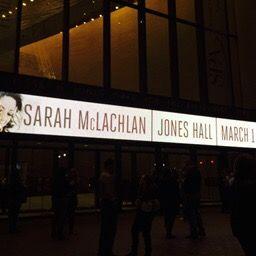 Jones Hall, March 1, 2015, Sarah Mclachlan.