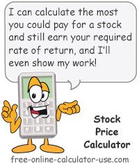 Stock Price Calculator This Free Online Calculator Will Calculate