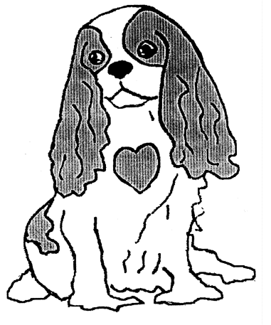 Cavalier king charles silhouette google zoeken honden for Cavs coloring pages