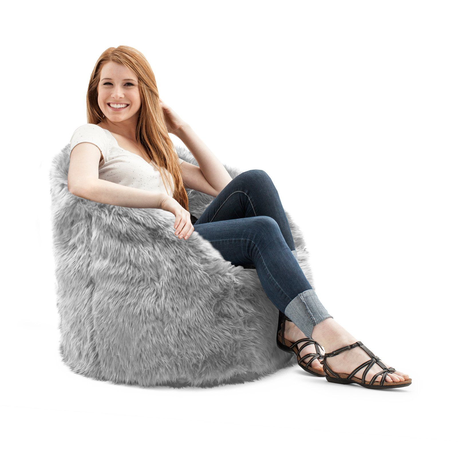 Big Joe Milano Shag Bean Bag Chair, Multiple Colors