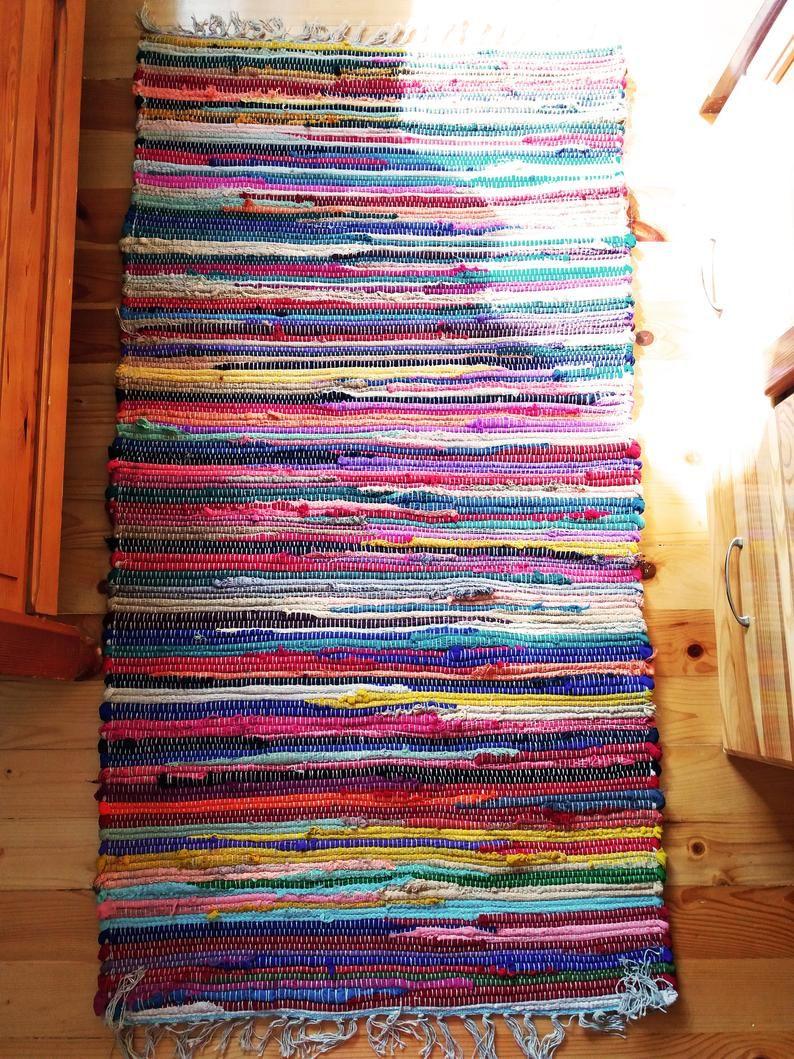 Colorful Rag Rug Rag Rug Runner Kitchen Mat Door Mat Bohemian Rustic Decoration Home Decor New Home Gift Gift For Her 70x140 Cm Rag Rug Rustic Decor Rugs