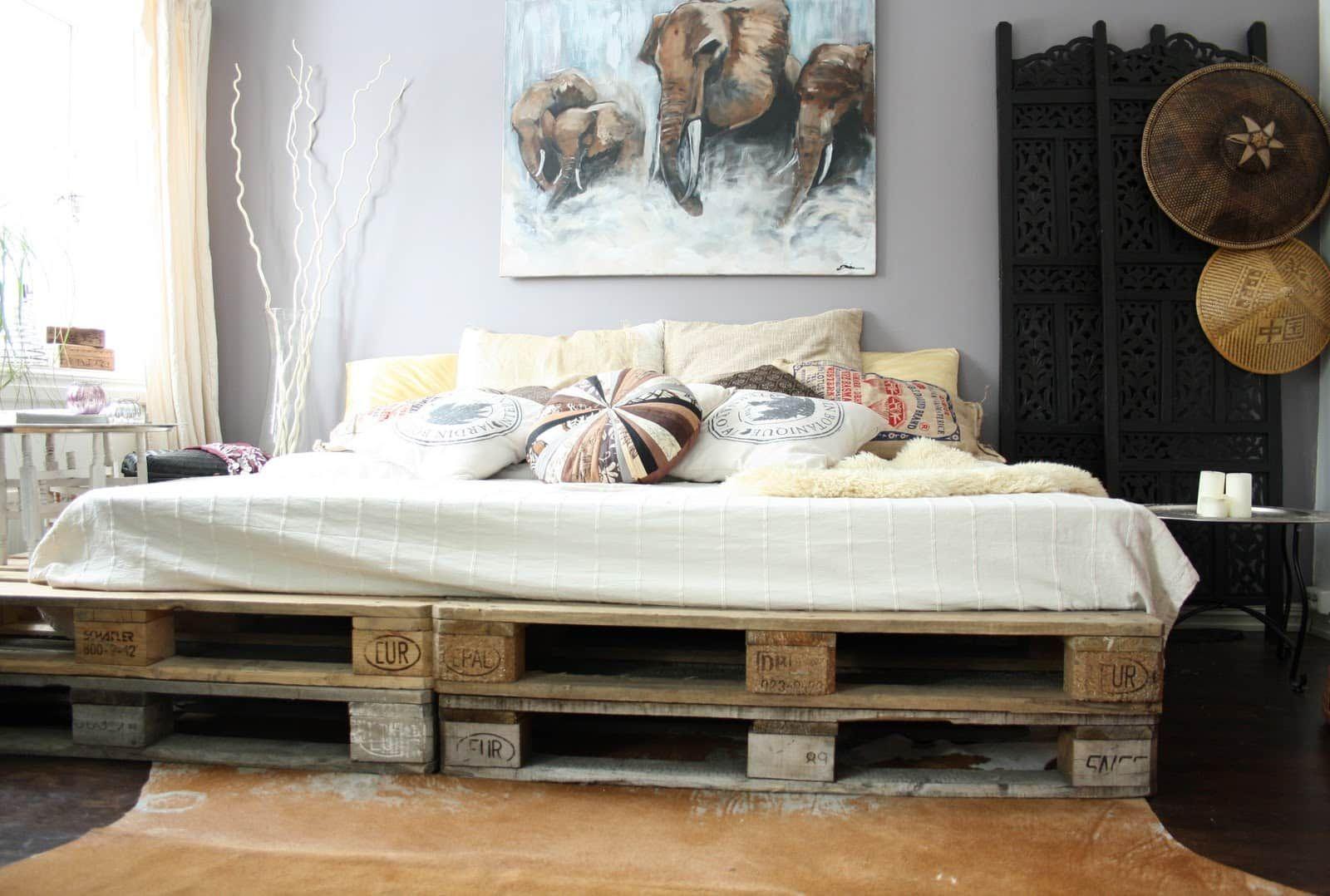 12 camas hechas con palets que te encantaría tener | Pinterest ...