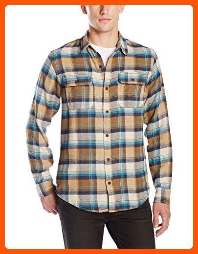 Burnside Mens Shutdown Plaid Flannel Button Down Long Sleeve Shirt