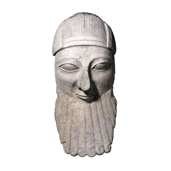 Room 72: Ancient Cyprus  Limestone head of a bearded worshipper  From Byblos…