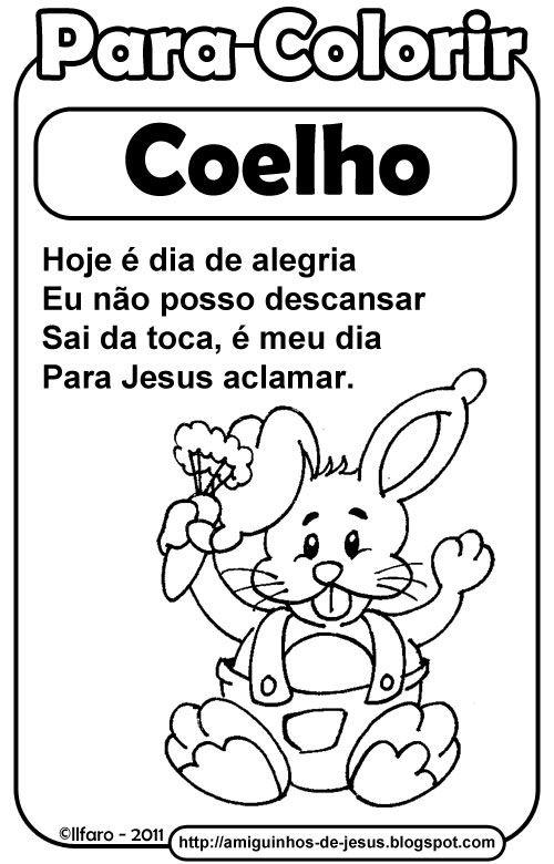 Simbolos Da Pascoa Coelho Simbolos Da Pascoa Pascoa Educacao
