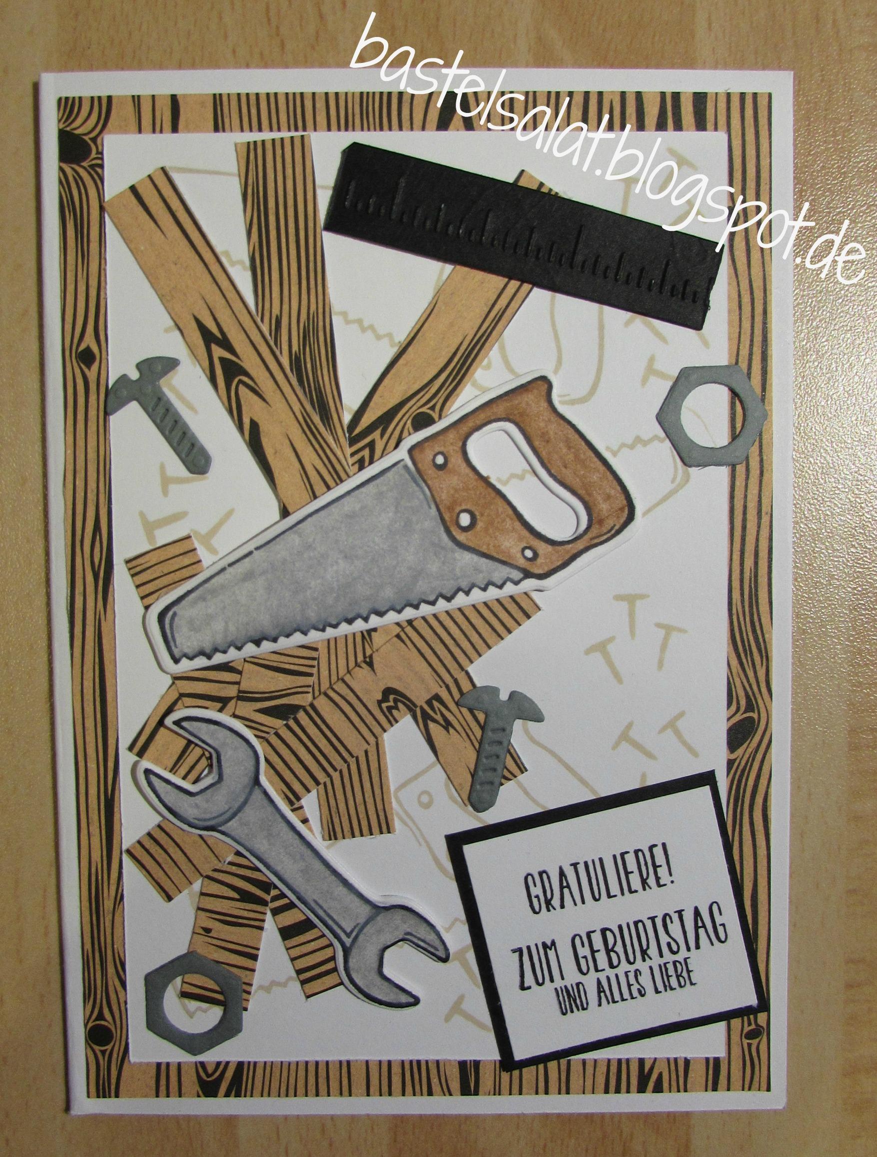 Heute viel bei mir der hammer hammer - Geburtstagskarte basteln mann ...