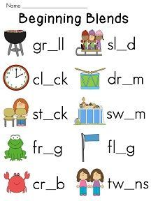 Consonant Blends - br, bl, cr, cl | Teaching phonics, Consonant ...