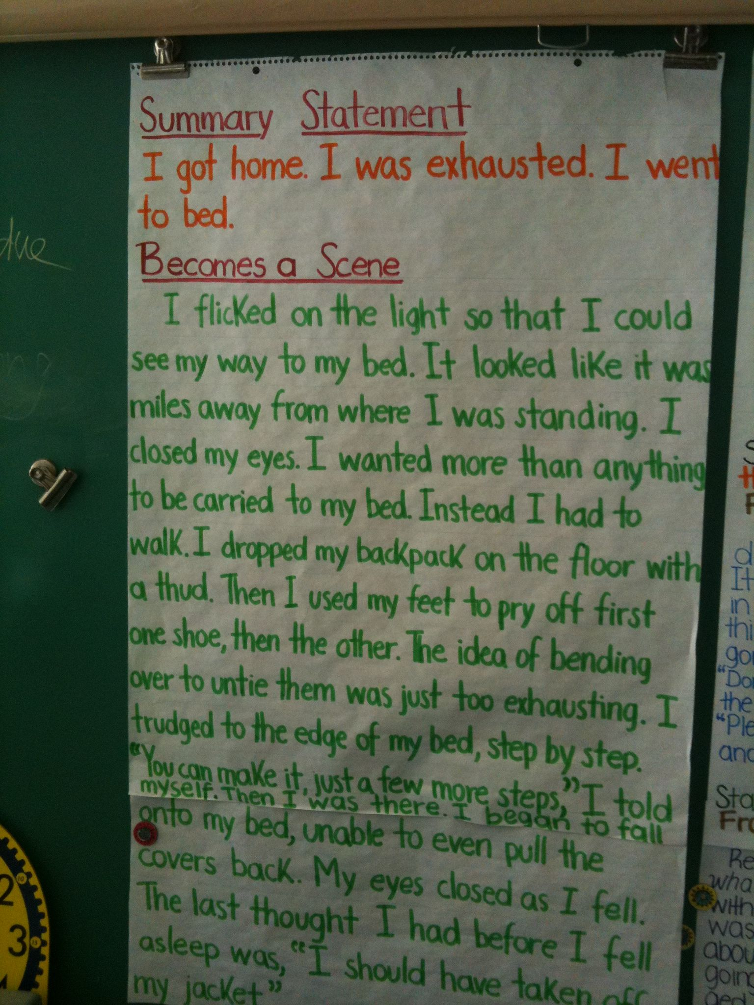 Writing anchor chart Show don't tell Teaching writing