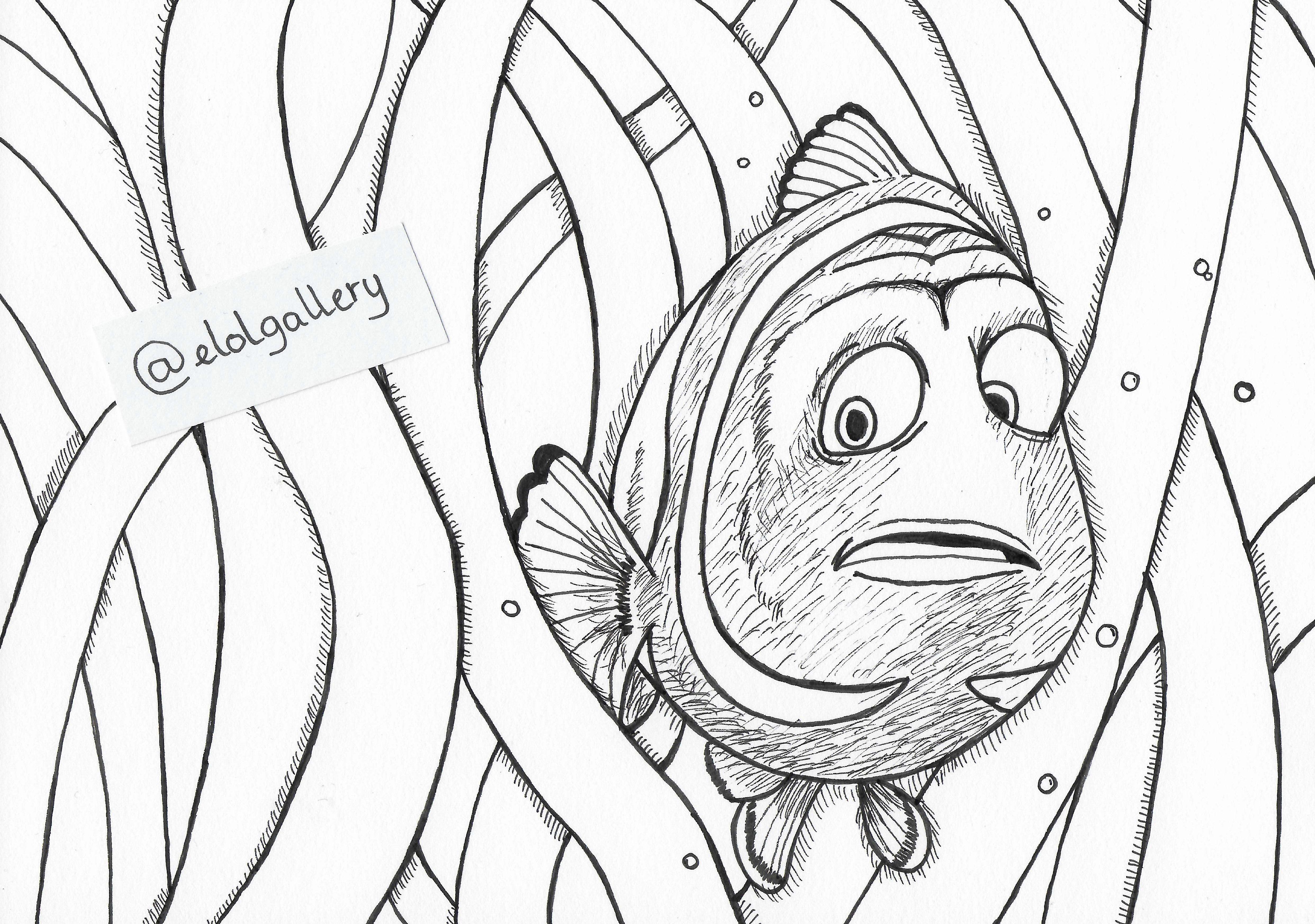 Le Monde De Nemo Finding Nemo Inktober Elolgallery Coloriage