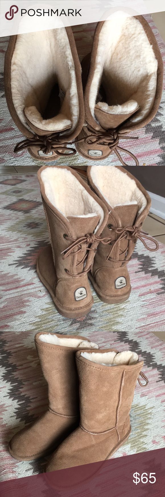 NWOT BearPaw Phylly Suede Laced-Back