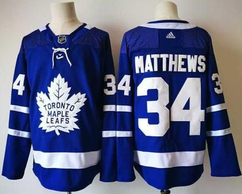 free shipping 6d863 c8dd2 Adidas Maple Leafs #34 Auston Matthews Blue Home Authentic ...