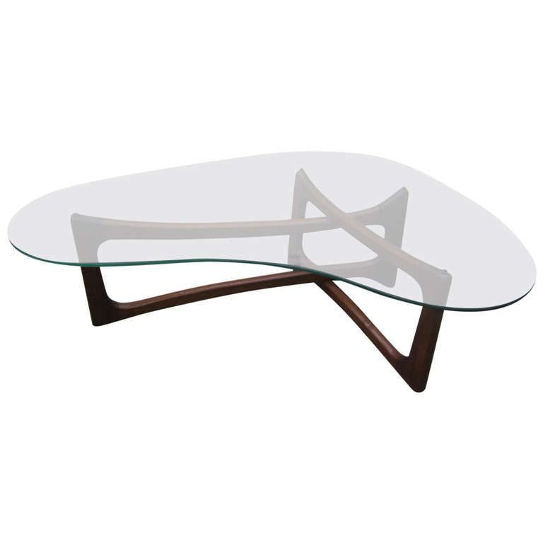 Kidney Bean Shaped Glass Coffee Table Many People Love Building