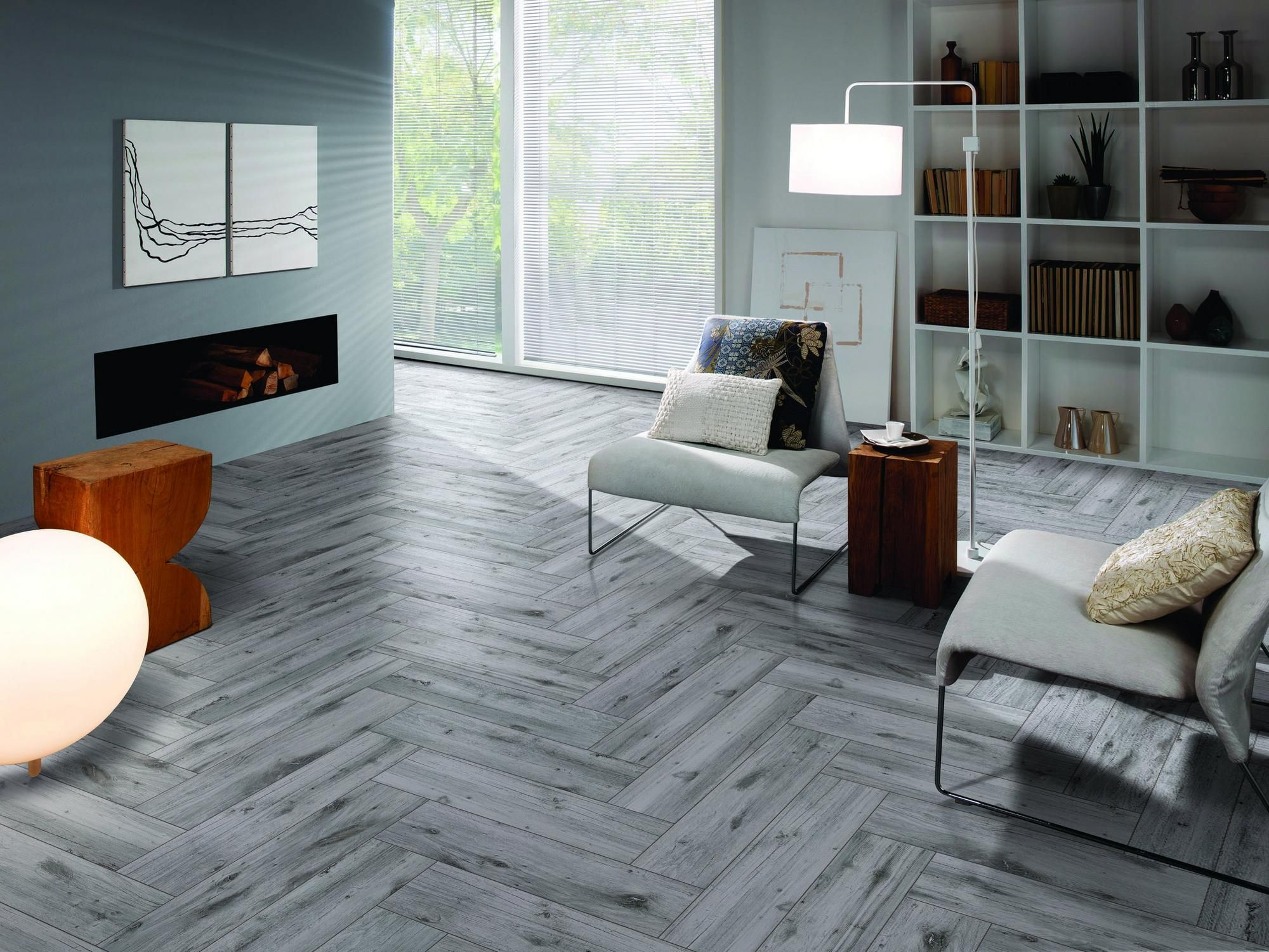 mansfield ash wood plank porcelain tile - 6in. x 24in. - 100156611