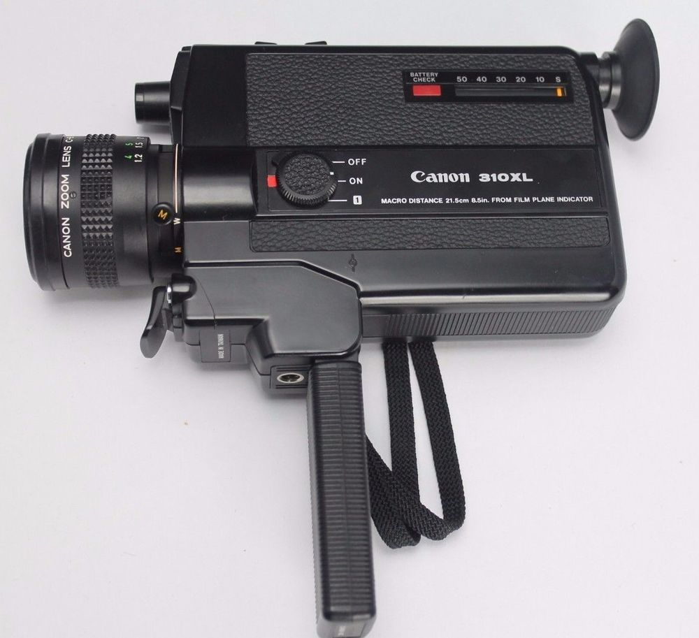 Vintage Canon 310 Xl Super 8mm Film Movie Video Camera With Leather Bag