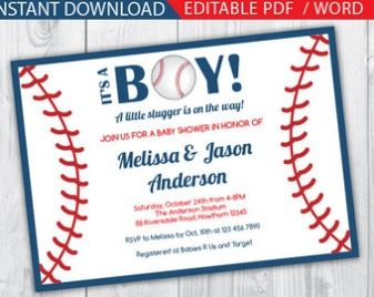 Baseball Baby Shower Invitation Magnificient Wording For More Suggestion 3569 Check At Http