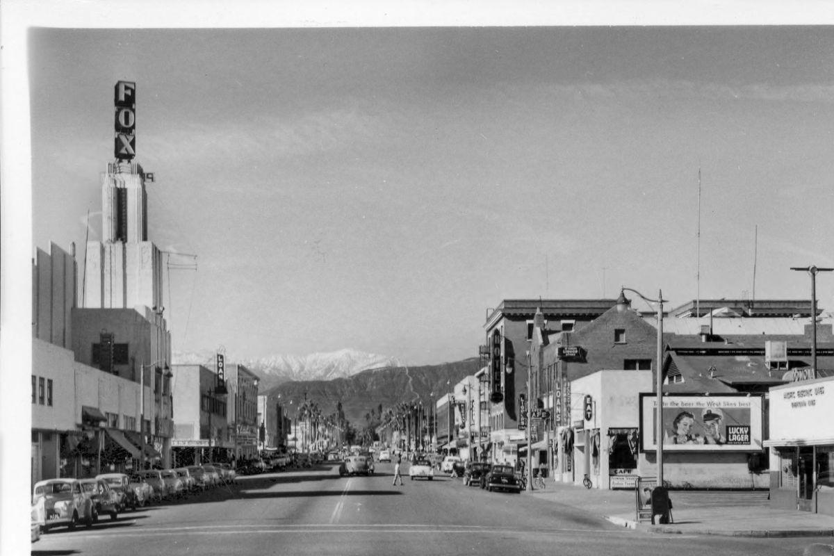 Garey Avenue Looking North Pomona 1952 Pomona California Pomona California History
