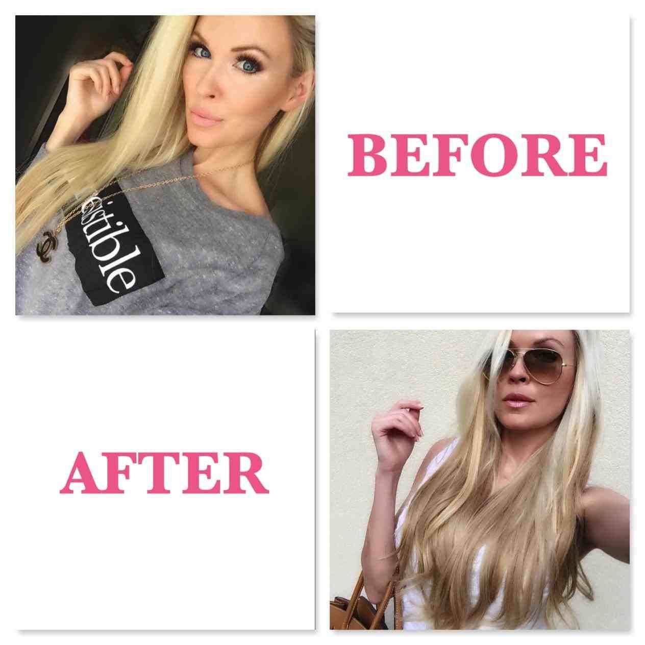 16 Inch Hair Extensions Before And After With Images Hair