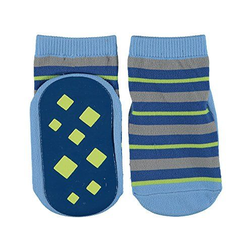 Luvable Friends Baby Boys Non Skid Socks 1824 Months Blue Learn