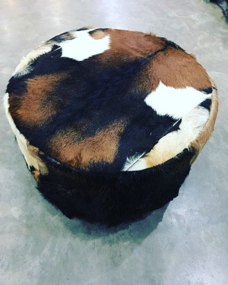 Fashion Designideas: What An Incredibly Beautiful Goat Hide Foot Stool. Call Us
