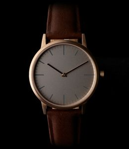 Primary photograph of product '152 Series (PVD Rose Gold / Walnut Cashmere Leather )'