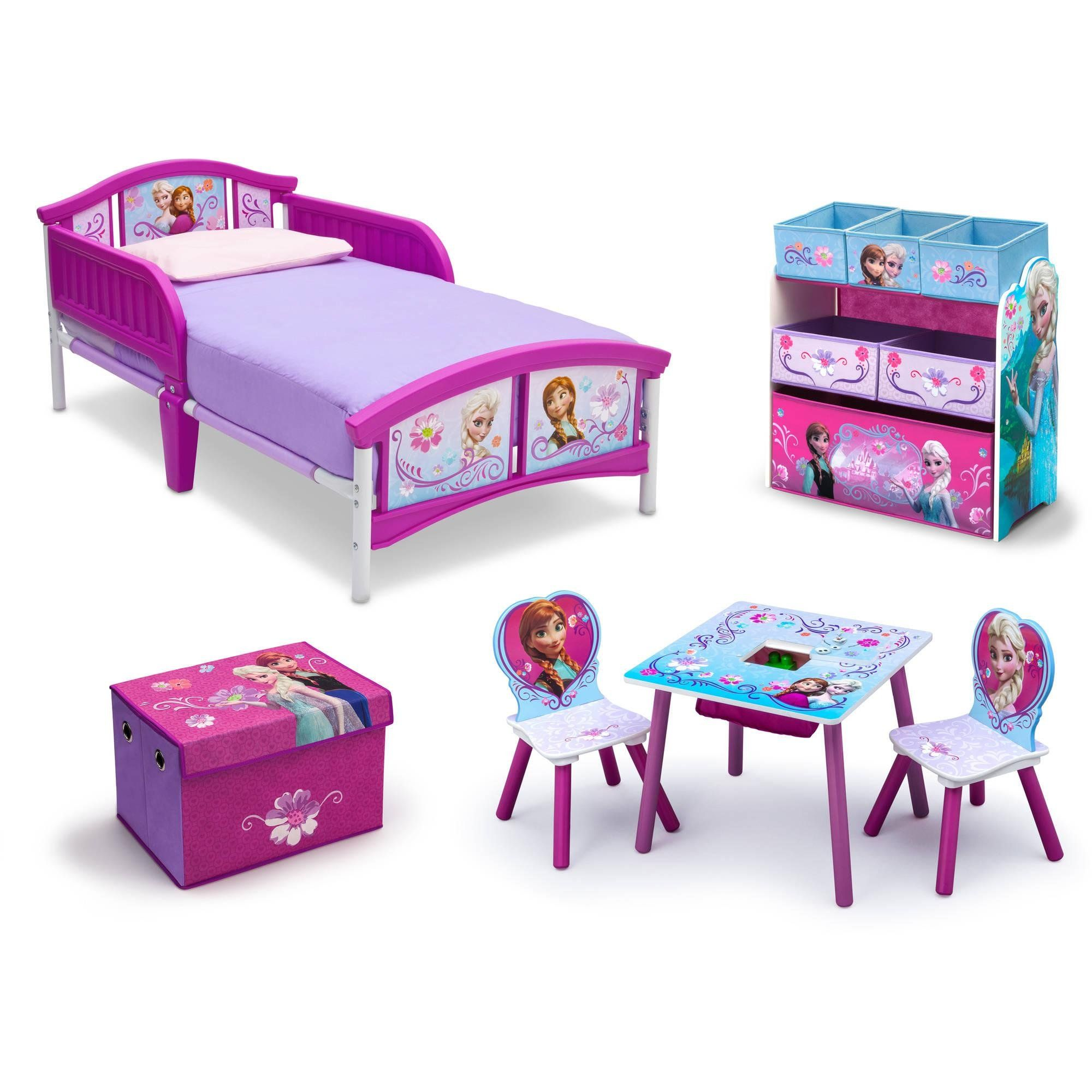 Frozen Bedroom Decor Toddler Kids Bed Disney Frozen Movie Princess Toy  Chair Set Girls Toy Chest. Frozen Bedroom DecorRoom In A BoxFrozen ...