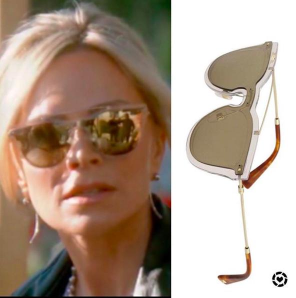 f56e8ce899a5 Tamra Judge s Clear Mirrored Sunglasses https   www.bigblondehair.com tamra