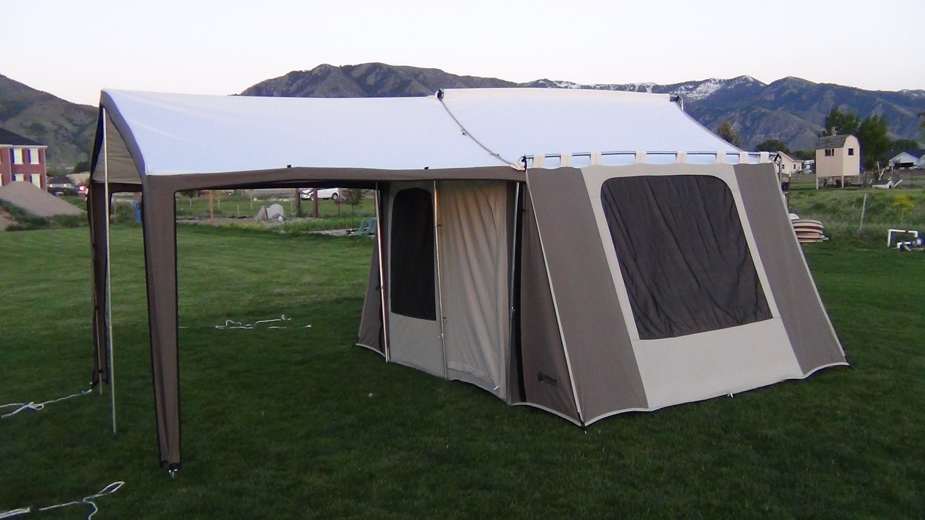 Kodiak Canvas Cabin Tent 6133 With Deluxe Awning Canopy