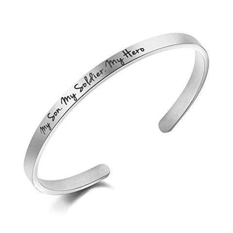 c96aa6399ab My Son My Soldier My Hero Cuff Bracelet Army Mom Navy Mom Air Force Mom  Military Jewelry Mantra Bangle Gifts for Women