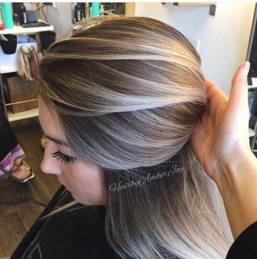 Balayage vs highlights to cover grey