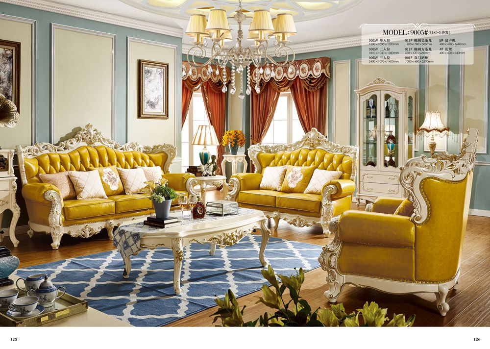 Luxury European And American Style Living Room Furniture Quality