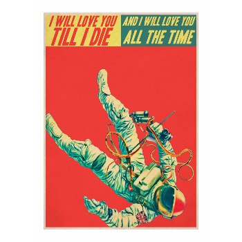 East End Prints  Ladies And Gentlemen Astronaut A1 Framed Print - Trouva