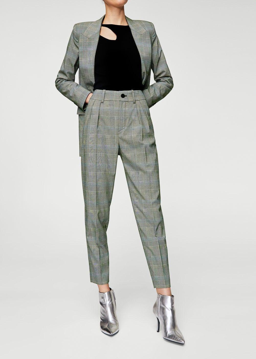 Pantalon de costume prince de galles - Femme | MANGO France