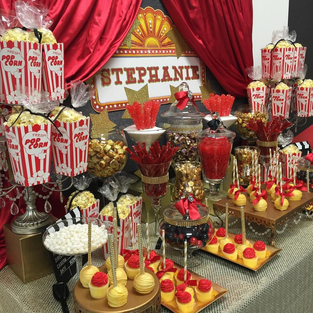 Hollywood themed birthday party!!!!!!!🍿🎬🎥 party
