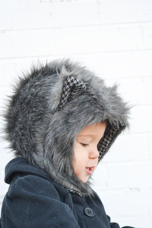 Fur Animal Hood Pattern and Tutorial    lemon squeeze home …shared by  Vivikene 9c2cd7bb86a7