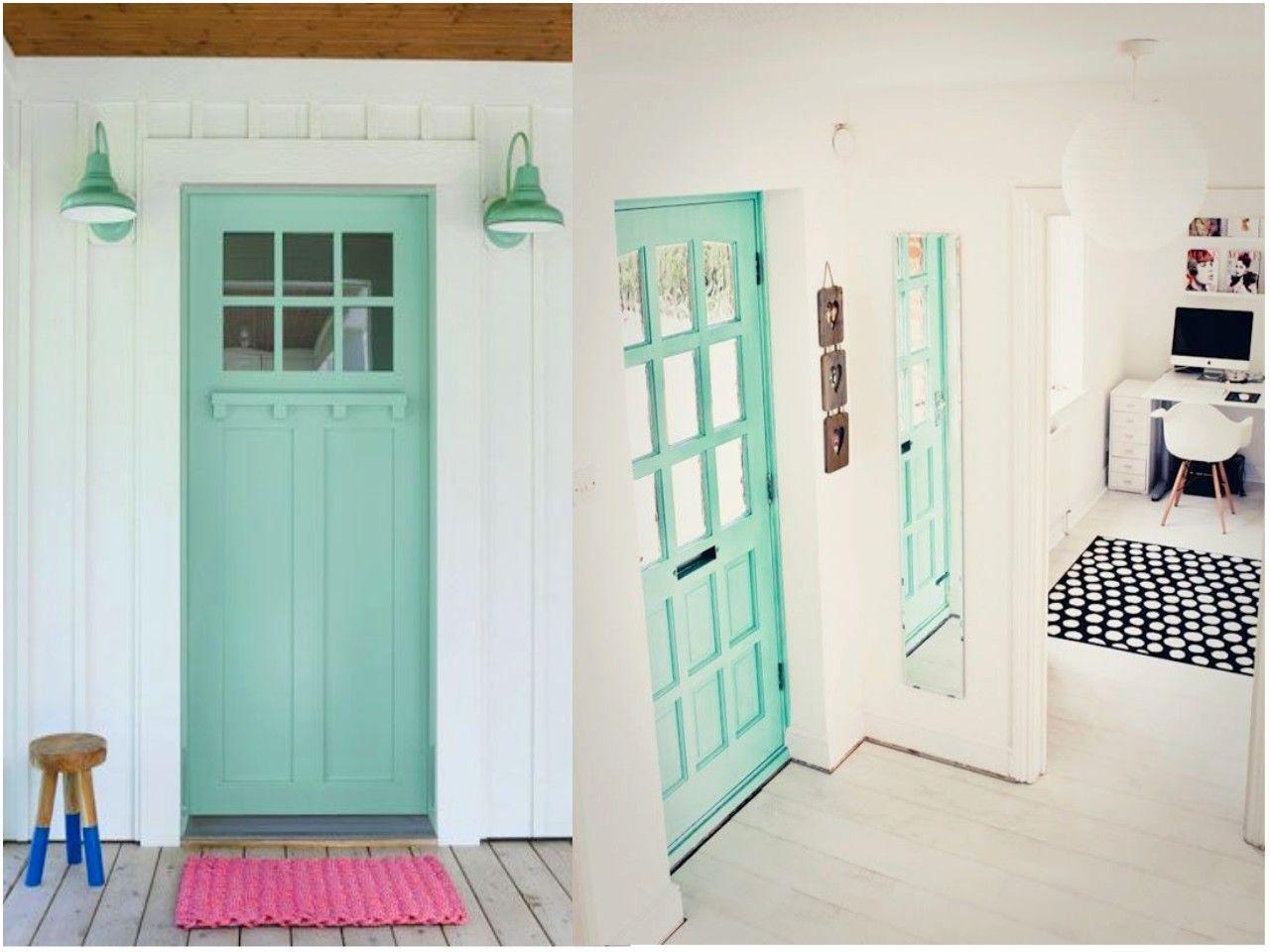 C mo pintar las puertas de casa ideas e inspiraci n puertas pintadas puerta de entrada y - Pintar puertas de casa ...