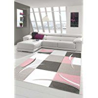salon designer tapis contemporain tapis moquette avec des couleurs diamants contour coupes motif pastel rose crme - Tapis Contemporain