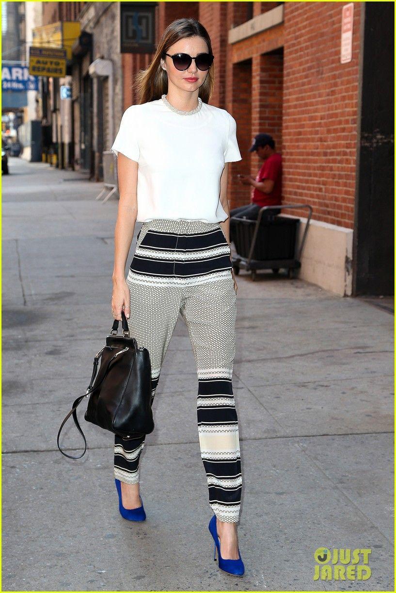 8534bb88ba65 Miranda Kerr   Flynn Wear Matching Blue Shoes!