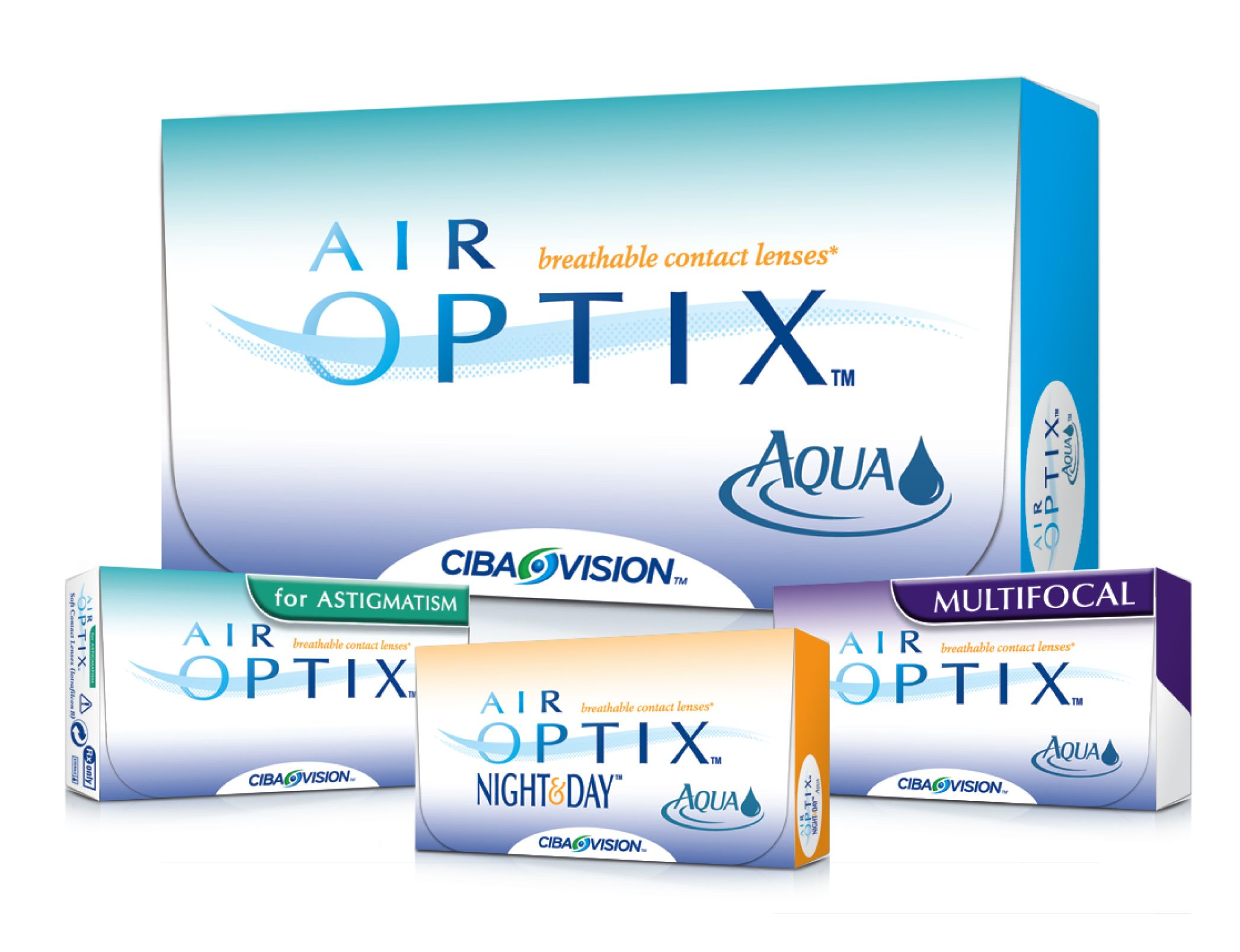 Get a free one month trial pair of Air Optix contact
