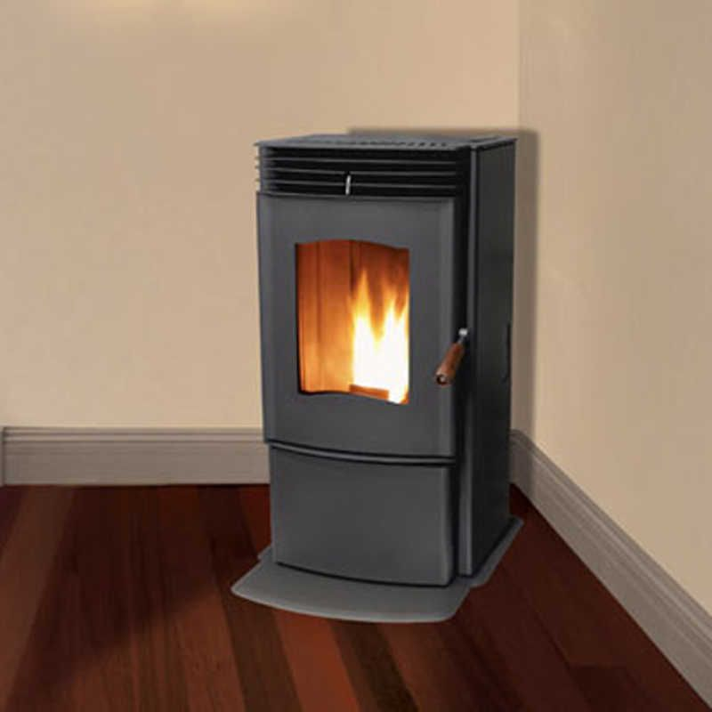 The Enviro Mini Is A Small Freestanding Pellet Stove Made By Sherwood Industries That S Known For Its Great E Pellet Stove Wood Pellet Stoves Small Log Burner
